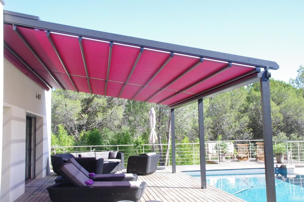 am nagement de terrasses stores honorat guilles. Black Bedroom Furniture Sets. Home Design Ideas