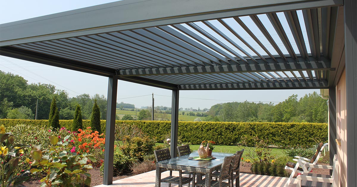 terrasse et pergola fabulous with terrasse et pergola simple terrasse avec pergola with. Black Bedroom Furniture Sets. Home Design Ideas